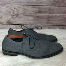Express Casual Linen Blue-Gray Oxford Dress Shoes Men's Size 10