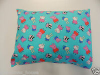 Peppa Pig Pillowcase Aqua Child Toddler Cot Size - Great Gift!! 100% Cotton
