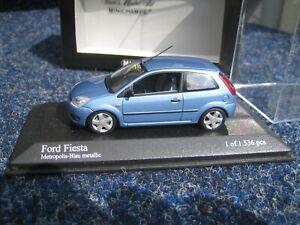 Ford Fiesta 2002 Minichamps 1:43 Metropolis Blau metallic 1 of 1.536 pcs OVP rar