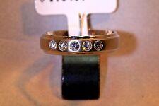Ring 585/- Weißgold mit 5 Brillanten 0.30ct. TW/SI, W-55 1/2, Halbmemoirering.