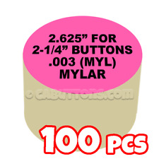 "2-1/4"" Tecre Mylars Clear Plastic Cover for Button Maker Machine Press 100 pcs"