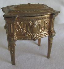 COFFRET ANCIENNE BOITE A BIJOUX REGULE EPOQUE XIX ANTIQUE FRENCH JEWELRY BOX