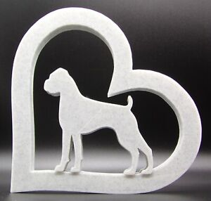 Boxer Dog in Heart Shape Home Ornament - Various Sizes