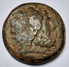 Large bronze Decadrachm Ptolemy II Philadelphos , Zeus , Eagle  Ca.284-247 BC