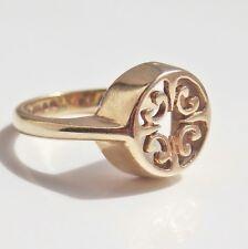 Rare Vintage Ola Gorie Scottish 9ct Gold St. Magnus Ring c1984; UK Size 'C 1/2'
