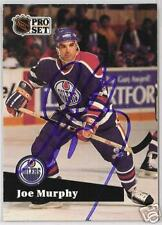 JOE MURPHY OILERS 1992 PRO SET  AUTOGRAPHED HOCKEY CARD JSA