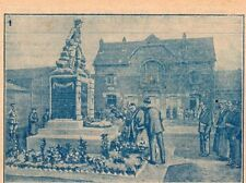 62 OPPY MAIRE ANGLAIS DE HULL INAUGURE MONUMENT AUX MORTS IMAGE 1927 OLD PRINT