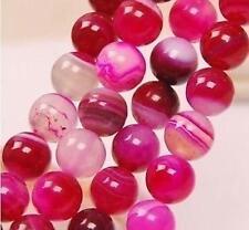 8mm,rose Agate Onyx perles pierres précieuses en vrac,  38cm