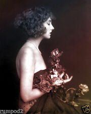 Art Deco Poster/Print1920 Ziegfeld Star with Flowers