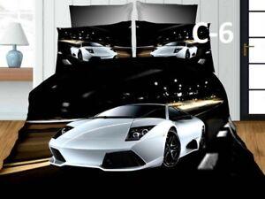 New 3D Effect Boys Car Pattern  Flat Sheet