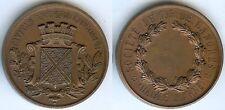 Médaille de table - LANGRES Haute Marne société de tir d=51mm cuivre + poinçon