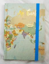 I miei viaggi-mappa del mondo NOTEBOOK DESIGN-TASCABILE-Notebook NUOVO con etichetta