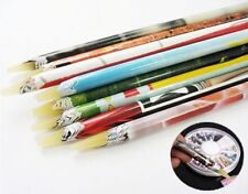 HOT Rhinestones Picker Crafts Pencil Nail Art Deco Wax Resin Pick Up Pen Long