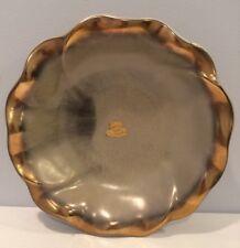 VTG Bay Keramik Scalloped Centerpiece Bowl w/ Gold Signed Germany 429 Stickers