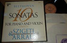 Szigeti/Arrau BEETHOVEN 10 Violin Sonatas - Vanguard SRV-300/3