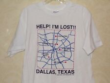 Vintage DALLAS TEXAS Help I'm Lost! T-Shirt USA - Artistic Textiles Graphics - L