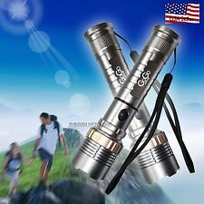2X 2000 Lumen LED Flashlight  Torch OUTdoor Rechargeable Battery Brigh