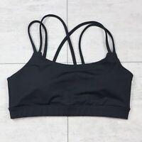 Women's GapFit Athletic Strappy Padded Black Yoga Sports Bra - Size Medium