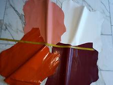 LEDER TIP 29715-H, Lederreste, 4-Lederhäute-Konvolut, verschiedene Farben nappa