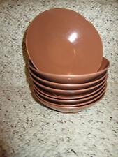 New listing 8 Unmarked Melmac Melamine Brown Cereal Soup Salad Bowls #2-7