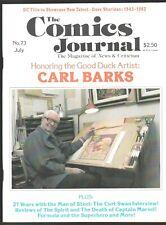 THE COMICS JOURNAL # 73 FANZINE CARL BARKS CURT SWAN DEATH OF CAPTAIN MARVEL