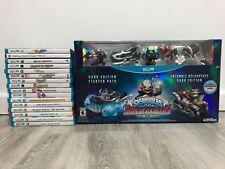 Nintendo Wii U Used Games ( Lot of 16 ),And Skylanders SuperCharger Dark Edition