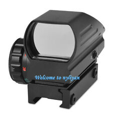 1x22x33 Red/Green Laser Dot Sight Rifle Scope Holographic Reflex With 20mm Rail