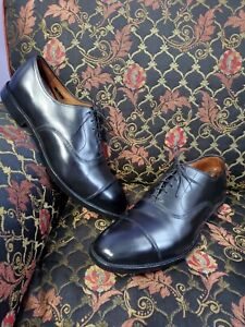 ALLEN EDMONDS Park Avenue Black Leather Men's Oxford Shoes Sz 14EEE.