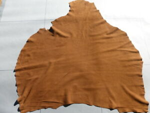 goatskin goat leather suede hide Tobacco Brown drapey ultra thin butter soft