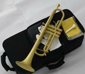 Professional Jazz Trumpet Yellow Satin finish Quality Bb Horn 2-Mouthpiece