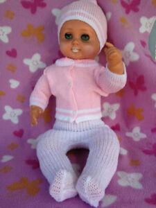 DDR Puppe / Babypuppe  Sonneberg, Stoffbauch, ca 55 cm blaue Augen 60er/70er J