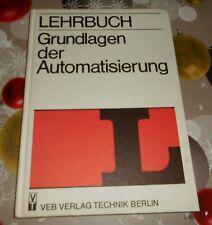 DDR  Lehrbuch Grundlagen der Automatisierung   Fachbuch Lehrausbildung