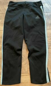 ADIDAS climaCOOL Running Black Gym Yoga Athletic Capri Leggings Pants wmns sz XS