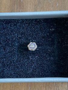 Body Gems 14kt Rose Gold And Swarovski Crystal Flower Push Fit End