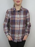The North Face Red Blue Plaid Hiking Shirt Womens Medium Button Down Long Sleeve