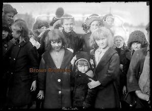 1910s Halloween Costume Party Children Glass Photo Camera Negative #2 BB
