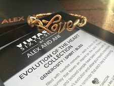 NWT BOX & CARD ALEX and ANI VINTAGE 66 Russian GOLD LOVE WRAP Bangle BRACELET