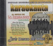 La Arolladora Banda El Limon Vol 67 Serie De Oro Karaoke New Nuevo Sealed