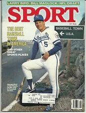 SPORT MAY 1986 George Brett Kansas City Royals w/ LABEL HOFer BEST BASEBALL TOWN