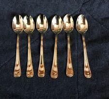 "6 Pfaltzgrafe 5 1/2"" gold-tone Spoons"
