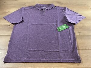 Skechers Pine Valley Polo Shirt Violet Heather Mens SZ M ( MTO10 ) NWT!!!