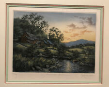 "Kathleen Cantin ""Midsummer Dream"" Limited Edition Etching~Signed~Numbered~Framed"