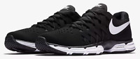 Nike Lunar Fingertrap TR 4E Wide Training Shoes Black White 898065-001 Men's NEW