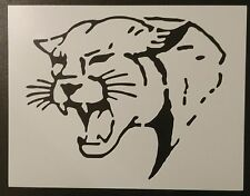 "Cougar Wildcat Wild Cat Face 11"" x 8.5"" Custom Stencil FAST FREE SHIPPING"