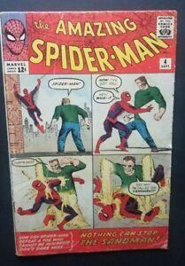 AMAZING SPIDER-MAN #4 • 1ST SANDMAN • VERY GOOD/FINE • NO WAY HOME