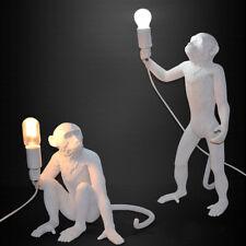 Vintage Industrial Resin Hemp Rope Monkey Pendant Light Wall Floor Table Lamp