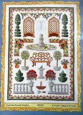 """Counted Cross Stitch Kit Victorian Formal Garden 12"""" x 8.5"""" by Mary Hickmott"""