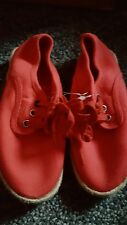 Marks and spencer boys red canvan shoes Size 12