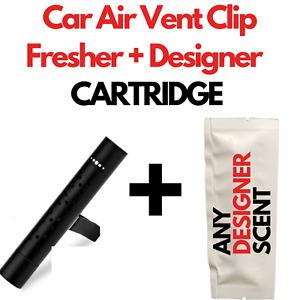 Car Air Vent Clip Freshener  Perfume Diffuser + Fine & Designer Fragrances BLACK