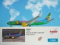 Herpa Wings 1:500 Boeing 737-800 TUIfly  Haribo D-ATUJ  528191 Modellairport500
